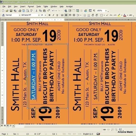Concert Ticket Invitation Ridge Light Ranch – Concert Ticket Invitation Template