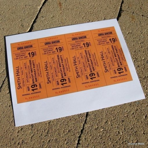 Concert Ticket Sheet