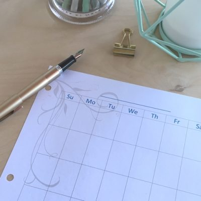 full page monthly perpetual planner