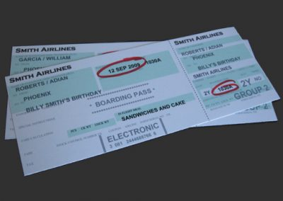 Airplane Ticket Party Invitation