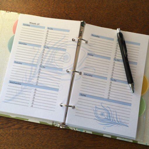 Perpetual Weekly Blue Planner