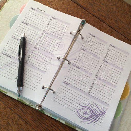 Perpetual Weekly Planner Purple