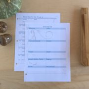 printable planner meal plan