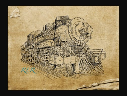 hand drawn train