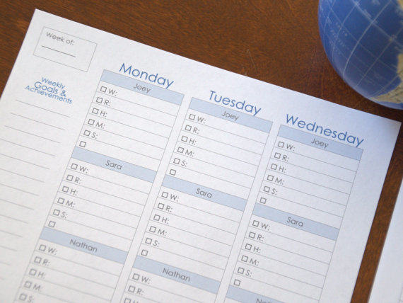 Weekly Mom Homeschool Planner