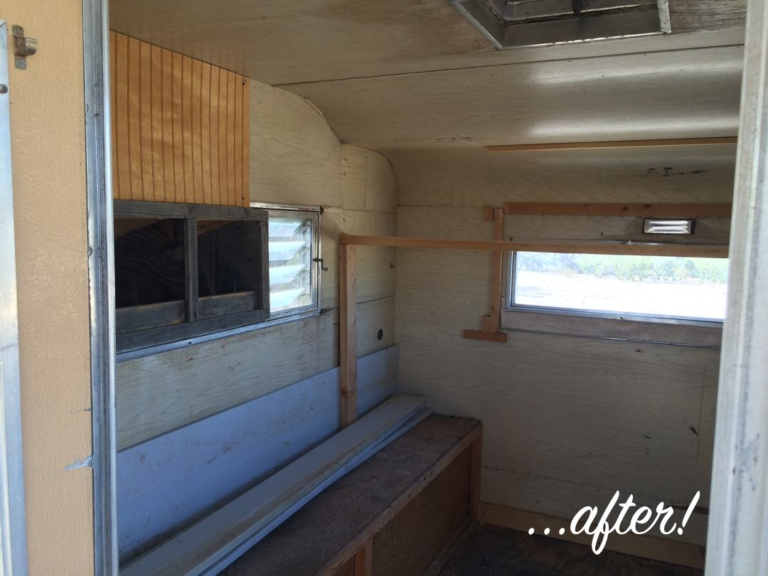Cab-over Camper turned Chicken Coop