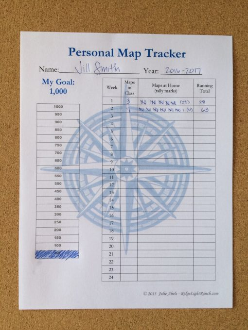 Set a personal goal and Track the maps you've traced