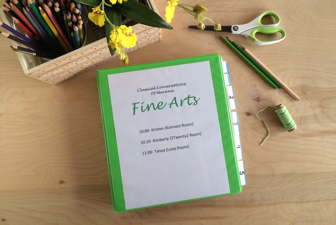 Binder to organize art supplies
