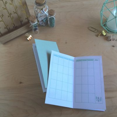 Print your own travelers notebook monthly calendar