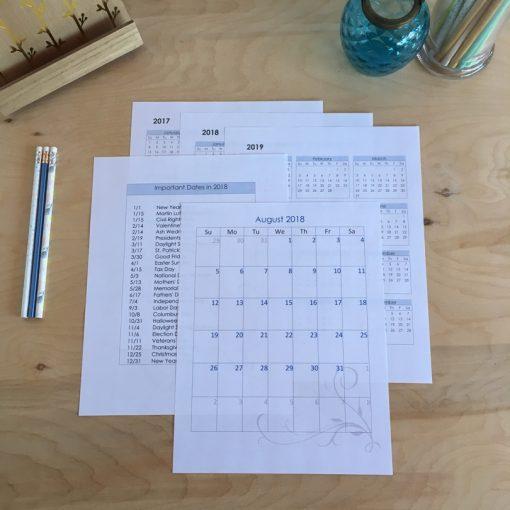 Editable Digital Download Planner