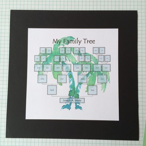 Printable editable Family Tree