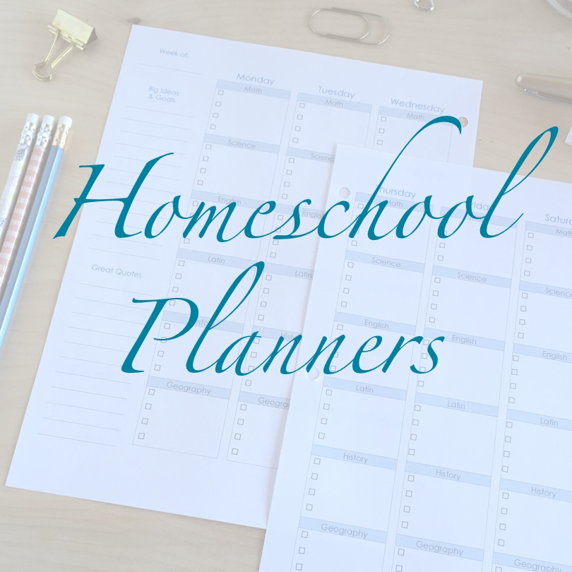 Homeschool Printable Planners