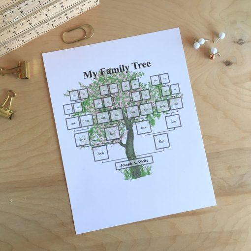 Printable editable family tree powerpoint