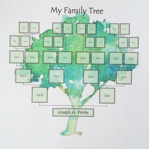 Framable family tree