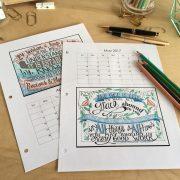 Alisa Taylor 2017 Printable Monthly Planner