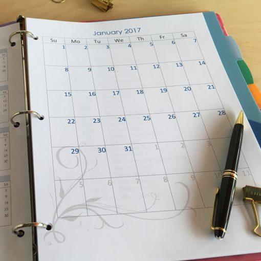 Printable Editable Calendar