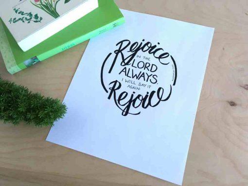 hand lettering Philippians 4