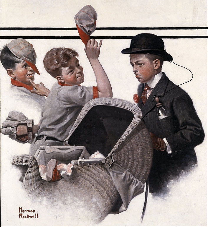 Art lesson about Norman Rockwell