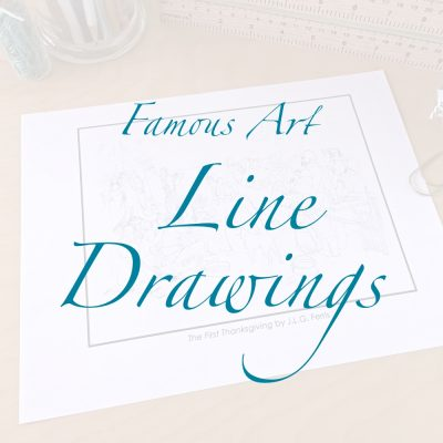 Famous Art Line Drawings
