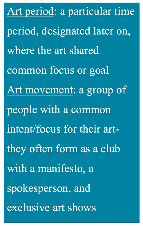 Art Period Definition Art Movement definition